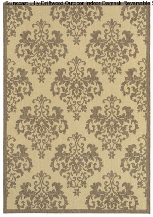 Suncoast Lilly Driftwood Indoor Outdoor Rugs Area Rugs