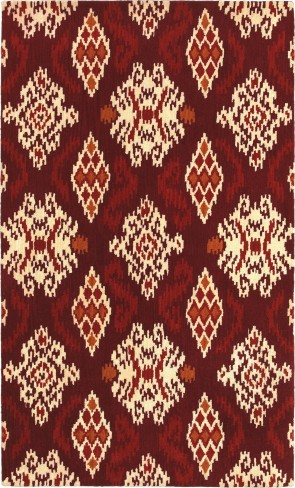 World Market Indonesia Ikat Medallion Red