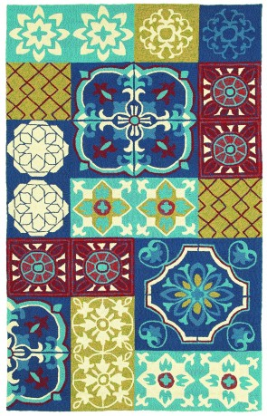 World Market Garden Craft Tile Of Paradise Blue