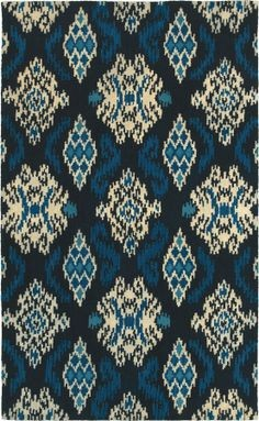 World Market Indonesia Ikat Medallion Indigo